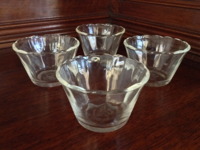 Fire King Clear Custards, Set of 4