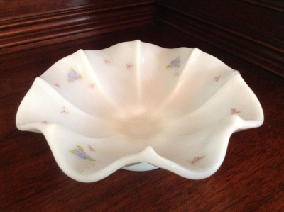 Hand-Painted Fenton Bowl