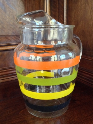 Striped Glass Pitcher