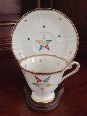 Order of Eastern Star Teacup and Saucer