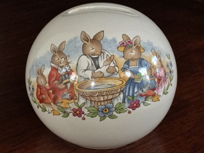 "Royal Doulton ""Bunnykins Celebrate Your Christening"" Bank"