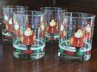 """Father Christmas"" Tumblers, Set of 4"