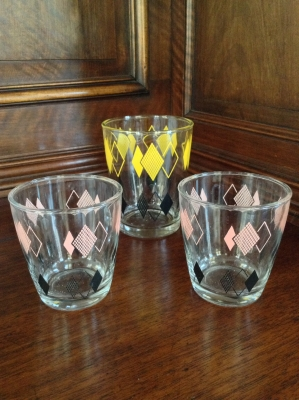 Sour Cream Glasses, Set of 3