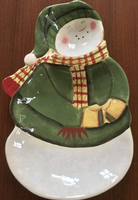 "Park Designs ""Santa, My Friend"" Chip and Dip Tray"