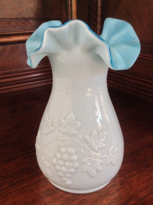 White and Blue Vase