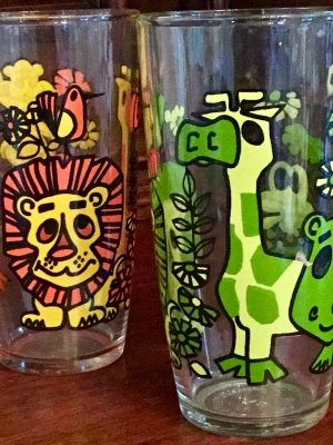 """Zoo"" Glasses, Set of 2"