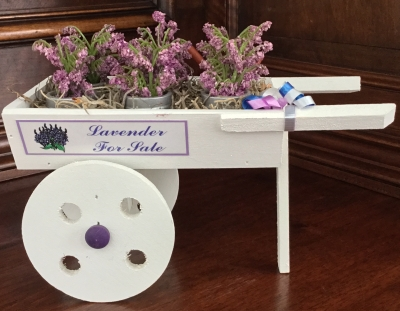 Byers' Choice, Lavender For Sale Cart