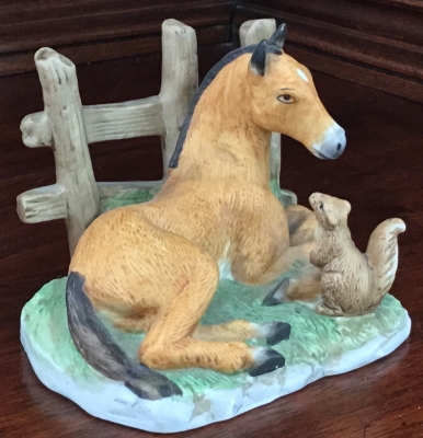 Foal and Squirrel Figurine