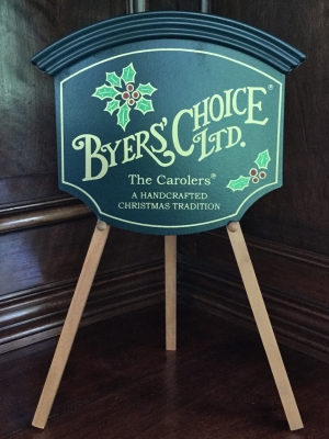 Byers' Choice Sign and Easel