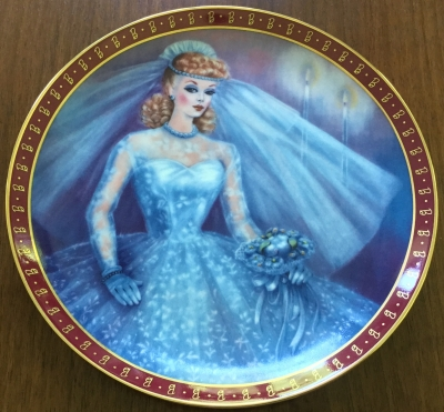 1959 High Fashion Barbie Bride-To-Be Plate