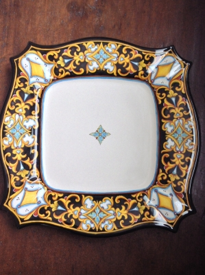 Hand-Painted Fima Deruta Plate