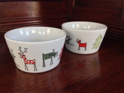 Christmas Bowls, Set of 2