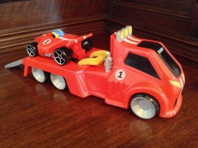 TOMY Race Car and Tow Truck Toy
