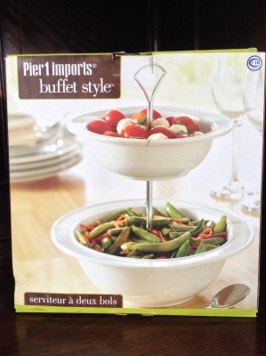 Pier 1 Imports Buffet Style Server With 2 Bowls