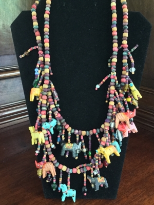 """African Animal"" Necklaces, Set of 2"