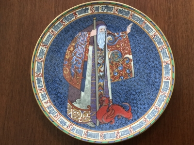 Minton Collector Plate, Merlin the Great Enchanter
