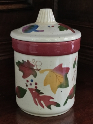 """Fall Leaves"" Candle with Lid"