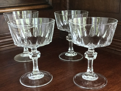 Princess House Champagne Glasses, Set of 4