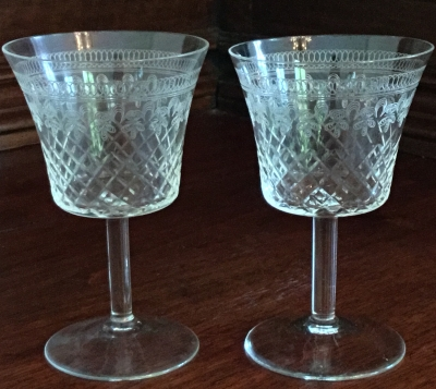 Crystal Sherry Glasses, Set of 2