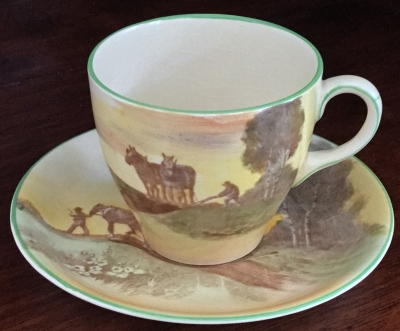 "Royal Doulton ""Plowing"" Cup and Saucer"