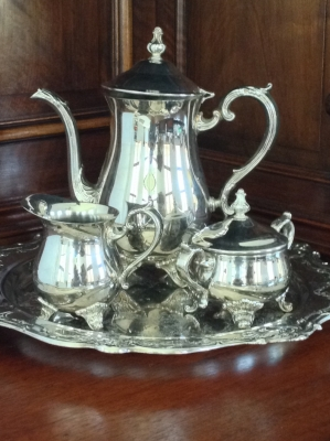 Gorham EP Brass Coffee Set, 4 Pieces