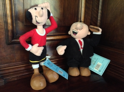 Olive Oyl and Wimpy Collectable Beans Dolls