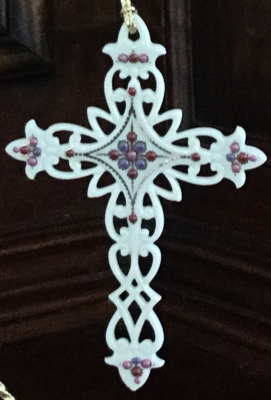 Lenox Cross Ornament