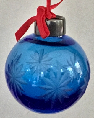 Lenox Starlight Ball Ornament (Blue)