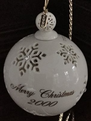 Lenox 2000 Pierced Snowflake Ball Ornament