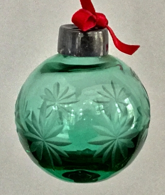 Lenox Starlight Ball Ornament (Green)
