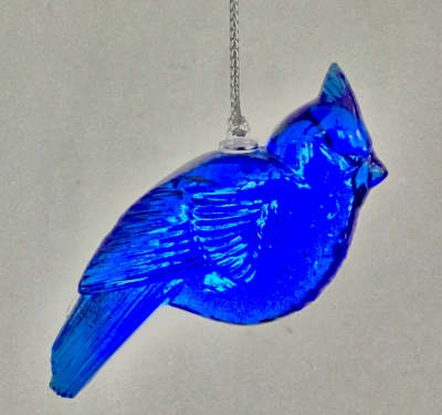 Lenox Crystal Bird Ornament (Blue)