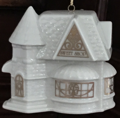 Lenox 1992 Christmas Village, Sweet Shop Ornament