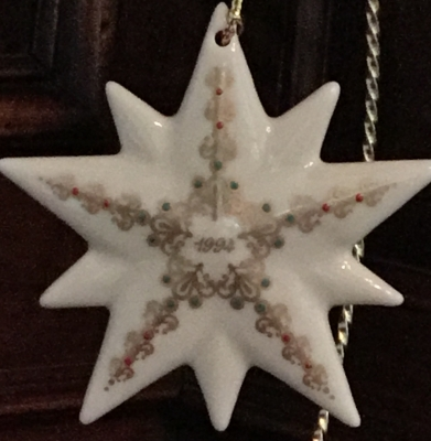 Lenox 1994 Star Ornament