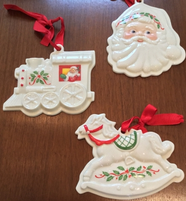 Lenox Santa and Rocking Horse Cookie Presses, Set of 3