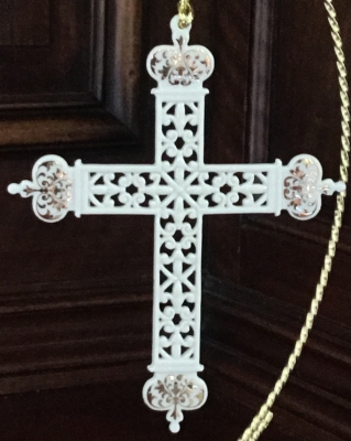 Lenox Pierced Gold Cross Ornament
