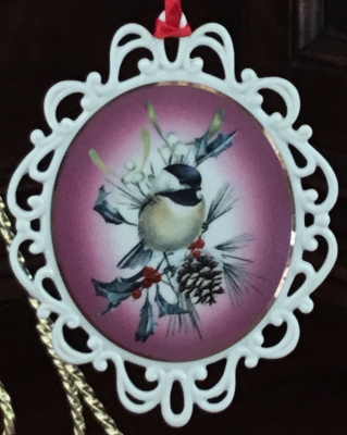 Lenox Winter Greetings Pierced Chickadee Ornament
