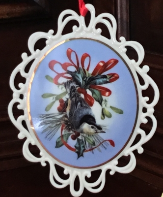 Lenox Winter Greetings Nuthatch Ornament