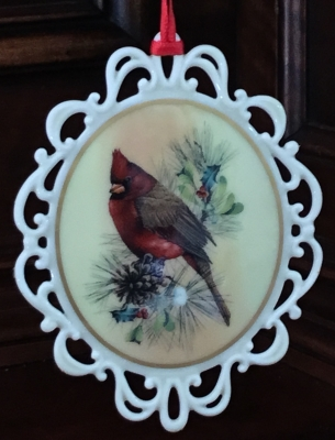 Lenox Winter Greetings Cardinal Ornament