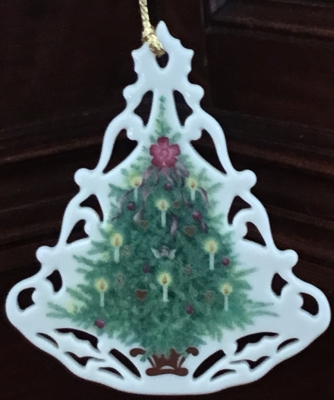 Lenox Victorian Lace Christmas Tree Ornament