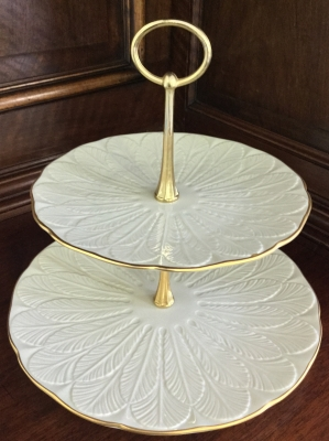 Lenox Two-Tiered Serving Tray