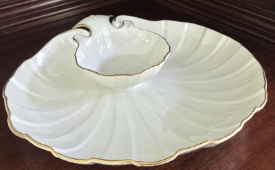 "Lenox ""Shell"" Chip and Dip Tray"