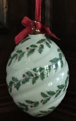 Lenox Holiday Spiral Ornament