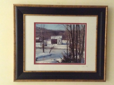 Country Scene Framed Print