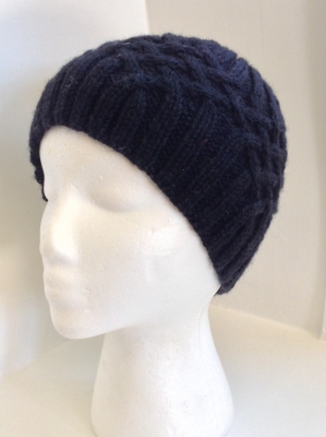 Hand Knit Black Cap