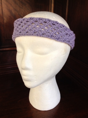 Hand Knit Purple Headband