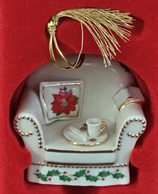 Lenox Holiday Home Chair Ornament