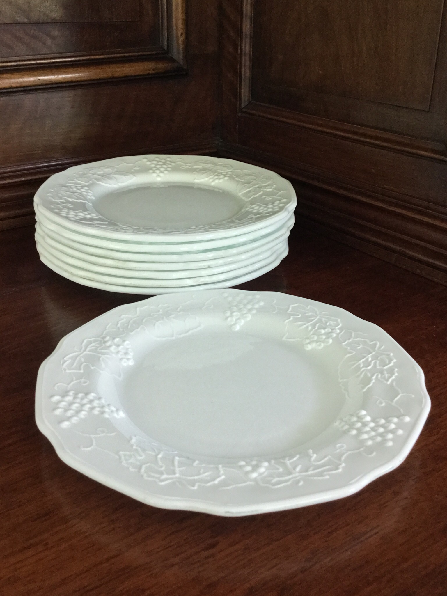 Milk Glass Grape Pattern Salad Plates Set of 8. Milk Glass Grape Pattern Salad Plates Set Of 8 & Appealing Grape Dinnerware Set Images - Best Image Engine ...