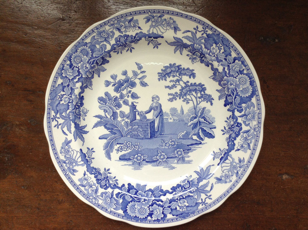 Spode Blue Room Collection Girl At Well Plate