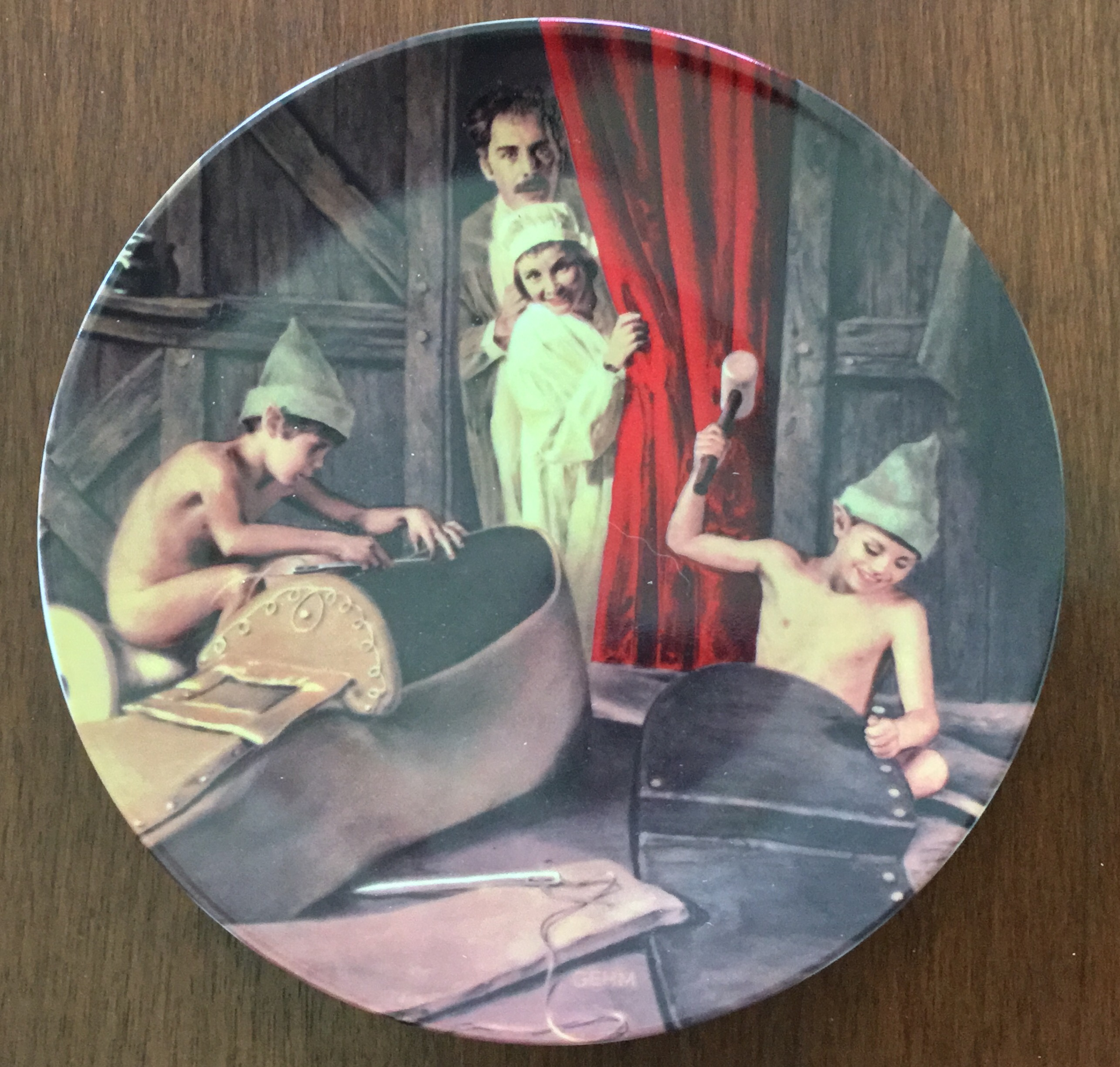 Charles Gehm The Shoemaker and the Elves Plate